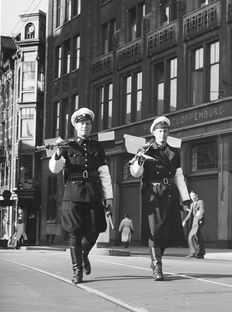 Online veilinghuis Catawiki: Kees Scherer - Policemen on Rokin - Amsterdam 1959 Gelatin Silver Print, Street Photography, Amsterdam, Punk, Prints, Vintage, Style, Fashion, Swag