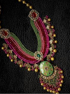 Featured Trendy Meenakari Indain Bridal Jewelry Collection You can't M. - Featured Trendy Meenakari Indain Bridal Jewelry Collection You can't Miss Out - Gold Jewellery Design, Bead Jewellery, Gold Jewelry, Beaded Jewelry, Jewelery, Jewellery Shops, Jewelry Stores, Designer Jewellery, Handmade Jewellery