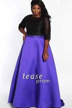 5617df443c2 TE1821 in Black Purple Lace Bodice