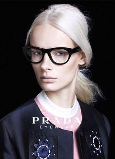 825d4589f61e ️prada Frame Plastic Black Unisex Eyeglasses VPR 08q 1ab-101 52mm Made in  Italy for sale online | eBay