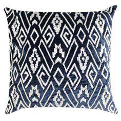 Ibiza Navy Square Throw Pillow