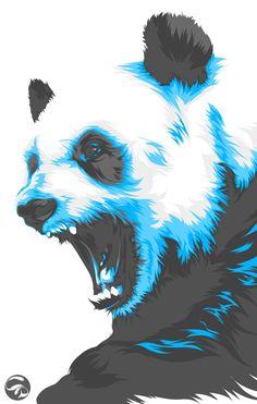 Panda Panda by Christian Dalida, via Behance
