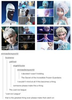 Just-ice League<<< Would be awesome if Jack were Disney