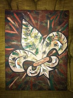 Camo Fleur De Lis- Peace Of Art by MelKay (I take orders!)