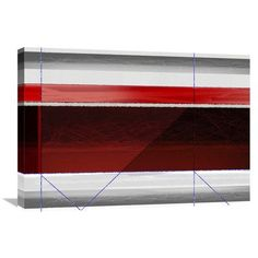Naxart 'Abstract Red and Brown' Painting Print on Wrapped Canvas Size: