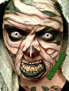 Mummy makeup Mummy Makeup, Mummy Costumes, Tattoo Ideas, Halloween, Tattoos, Face, Painting, Fictional Characters, Tatuajes