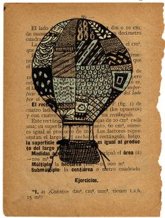 altered book page illustration by eloeloise@Flickr.  Wow.