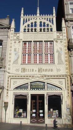 My favorite book store ever!!!  Livraria Lello, Porto, Portugal