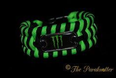 """#Paraknotter #Handmade #Paracord #Paracord550 #Bracelet """"Monster"""" #ParacordLove #monsterenergy #monster"""