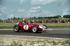 The French Grand Prix; Reims, July 4, 1954. José Froilán González brakes for Thillois corner during practice with his Ferrari 553 �Squalo.� Both González and his teammate Alberto Ascari were close to the Mercedes in practice, but both their engines expire
