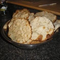 This is identical to the cracker bread sold at delis in large grocery stores that costs six dollars for three big rounds.  You can make it for pennies!  I fell it love with it as an appetizer with Harvarti cheese melted on it but with the price of the cheese and lavash we didn't have it much.  Make sure you roll the dough VERY thin, almost see-through.