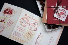 Woodland passport wedding invites seen on Invitation Crush