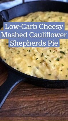 Low Fat Low Carb, Low Carb Keto, Low Carb Recipes, Healthy Recipes, Simple Recipes, Cheesy Mashed Cauliflower, Baked Cauliflower, Cauliflower Recipes, Pureed Food Recipes