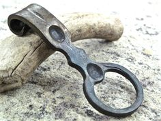 Forged bottle opener - blacksmith wrought iron bar tool. Great gift idea for Christmas and Birthdays. - pinned by pin4etsy.com