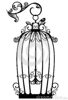 Antique bird cage vector