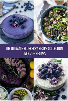Over 70 Juicy Canadian Blueberry Recipes Canadian Cuisine, Canadian Food, Canadian Recipes, Blueberry Recipes, Raw Food Recipes, Blueberry Cheesecake, Healthy Recipes, Delicious Recipes, Blueberry Season