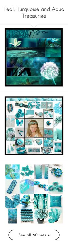 Teal, Turquoise and Aqua Treasuries by andreadawn1 on Polyvore featuring art, etsy, etsyfresh, shutterloveprintshop, aqua, turquoise, interior, interiors, interior design and home