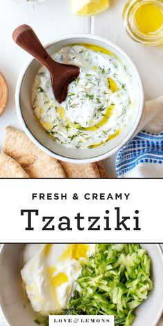 Learn how to make tzatziki sauce with this easy recipe! With just 8 ingredients its a cool refreshing and versatile dip. Serve it as an appetizer spread it on sandwiches drizzle it over grilled meat & veggies and more! Tzatziki Sauce Recipe Easy, Tzatziki Recipes, Meat Appetizers, Appetizer Recipes, Dinner Recipes, Vegetarian Appetizers, Vegetarian Recipes, Cooking Recipes, Healthy Recipes