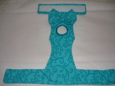 Female Dog Diaper Panties Teal with Dark Teal by CodysHaven