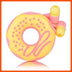 QearFun Candy Color Donut Earphone In Ear Earbud with Microphone and Cord Wrapper Set Winder for Smartphone Mp3 (Pink) - Fun stuff and gift ideas (*Amazon Partner-Link)
