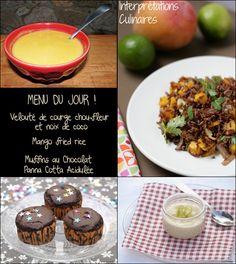menu vg vegetalien vegan Blog Vegan, Panna Cotta, Cereal, Breakfast, Food, Sprouts, Vegetarian Cooking, Friday, November