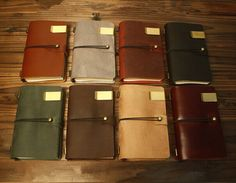 Handmade Genuine Leather Journal Vintage  Black, Bright Brown, Dark Green, Burgundy, Dark Brown: Midium (160mm x 100mm) $23.99; Large (220mm x 120mm) $28.99; Small (130mm x 100mm) $19.99  Bright Coffee: Medium $27.99; Large $32.99; Small $23.99