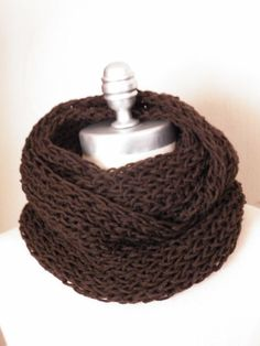 Chocolate Brown Scarf Infinity Scarf Knit by jamiesierraknits, $25.00