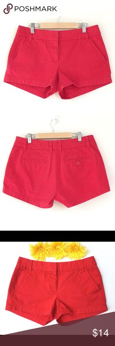 "J. Crew 3"" Chino Shorts Classic J. Crew chino shorts in 100% cotton. Machine wash cold  and line dry to preserve color. Waist measures 15 1/2 inches across. Gently worn in excellent condition. J. Crew Shorts"
