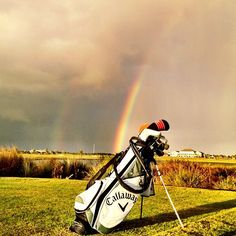 Always a rainbow day at the golf course.......