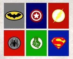 This Superhero Printables < Superhero Logos < Superhero Wall Art < Batman < Spiderman < The Hulk < Superman < Captain America < Set of 6 is just one of the custom, handmade pieces you'll find in our art & collectibles shops. Superhero Wall Art, Superhero Classroom, Superhero Birthday Party, Superhero Bathroom, Logo Superman, Batman Logos, Logo Hulk, Logo Super Heros, Batman Spiderman