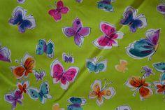 Baumwollstoff   Schmetterlinge   www.feendesign-shop.de