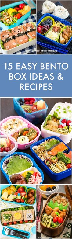 Back to School Easy Bento Box Ideas - Here's 15 healthy bento box ideas and inspirations. Also includes food safety, decoration tips and all you need to know about bento making! #bentobox #bento #Japanesefood #schoollunch #お弁当 #riceballs #picnic | Easy Japanese Recipes at JustOneCookbook.com