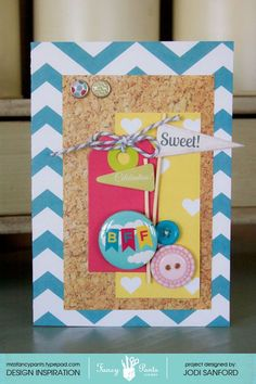 """Adorable card with """"What a Wonderful Day"""" from FancyPantsDesigns.com"""