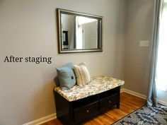 Welcome to part 2 of staging our home! If you missed part check it out here . When I first thought of what I would do in preparation . Sell Your House Fast, Selling Your House, Declutter Home, Decluttering, Home Staging Tips, Diy Home Improvement, Decorating Blogs, Home Interior Design, Home And Living