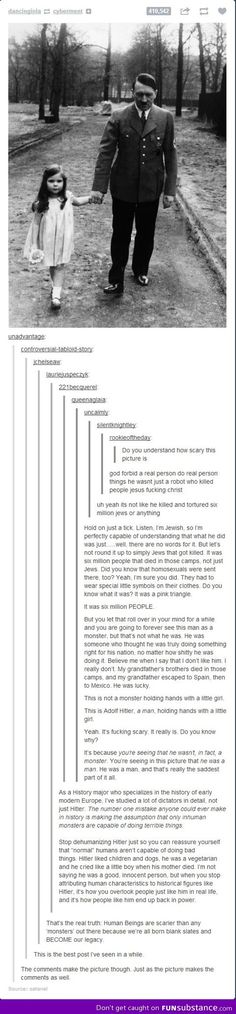 A little more hitler from tumblr, always so powerful. *This was pretty interesting...