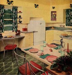 Decoración, 1957: Birch Kitchen
