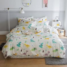 Bring delicate appeal to your bedroom or guest room decor with the twin size dinosaur print bedding sets for kids. The soft colors is printed on the bright colorful twin size dinosaur print bedding sets for kids to fill your bedroom with sunny elegance. Twin Bedroom Furniture Sets, Kids Twin Bedding Sets, Bedroom Sets For Sale, Twin Bedroom Sets, Cotton Bedding Sets, Queen Bedding Sets, Comforter Cover, Duvet Bedding, Duvet Cover Sets