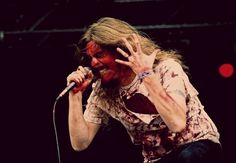 2005 at Wacken open air festival--technically this was Mikael in Bloodbath, but this pic was too great to pass up