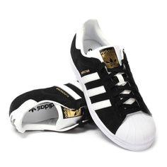 Chaussure adidas superstar blanc noir doré homme femme pas cher via nike  air huarache. Click 4d216d2f140