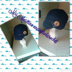 Baby hat crochet with brim