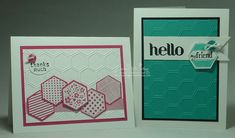 Love these cards made with Six Sided Sampler Stamps and the Hexagon Punch!