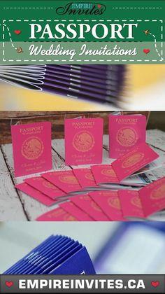 various themed passport wedding invitations #passportweddinginvitations #destinationweddinginvitations #destinationwedding Wedding Invitations Canada, Passport Wedding Invitations, Wedding Invitation Design, St Lucia Weddings, Cruise Ship Wedding, Viajes, Wedding Invitation