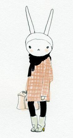 Fifi Lapin wears Marni