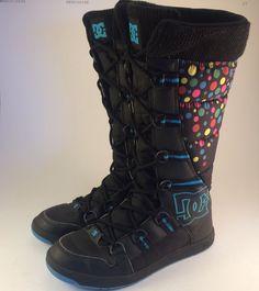 DC Chalet Slim V2 Women's Boots Winter Skate Shoes Size 7 5 US 38 5 EUR | eBay
