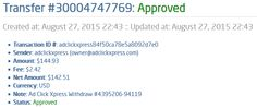 My 83. Payment Proof at ACX - AdClickXpress. AdClickXpress is the top choice for passive income seekers.Making my daily earnings is fun, and makes it a very profitable! I am getting paid daily at ACX and here is proof of my latest withdrawal. This is not a scam and I love making money online with Ad Click Xpress. Thank You ACX!!!  http://www.adclickxpress.com/?r=zegycjppjya&p=aa