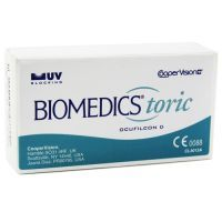 CooperVision's BioMedics Toric is a monthly replacement soft toric contact lens designed for wearers who suffer from astigmatism. These toric contact lenses are known for crisp, clear vision. And, due to their chiselled edge and extremely stable performance, BioMedics toric contacts provide excellent visual acuity, ease of handling and lasting comfort.