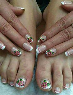 Uñas Mani Pedi, Manicure And Pedicure, Work Nails, Toe Nail Designs, Beauty Nails, Finger, Nail Art, Pretty Pedicures, Feet Nails