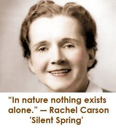 Rachel Carson is considered one of the founders of the green movement and environmentalism.
