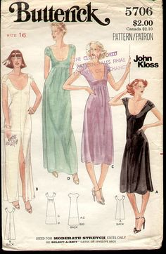 Butterick 5706 1970s John Kloss silk dress | Flickr - Photo Sharing!