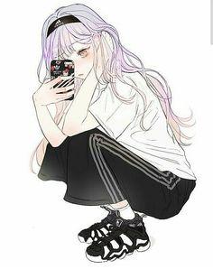 Pretty Anime Girl, Cute Anime Boy, Anime Art Girl, Anime Guys, Manga Anime, Cartoon Girl Drawing, Girl Cartoon, Pictures For Friends, Illustration Art